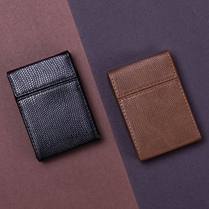 Colorful Portable PU Leather Lizard Skin Cigarette Case Dry Herb Tobacco Preroll Rolling Roller Smoking Storage Stash Box Holder Protective Shell DHL