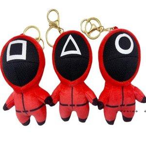2021 Fidget Squid game squid game plush toy pendant doll key chain bag Pendant LLB11021