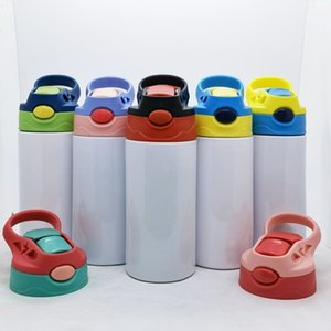Straight Sippy Cup Blank Sublimation Tumbler Children Water Bottle 350ml Stainless Steel Drinking tumbler For Kids T2I51834