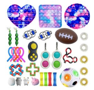 Fidget Toys Anti Stress Set Stretchy Strings Pop It Popit Gift Pack Adults Children Squishy Sensory Antistress Relief Figet Toys