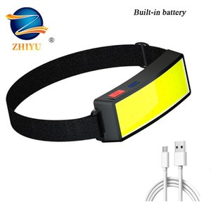 Soft Lighting Headlights USB Rechargeable Fishing Lights Outdoor Camping Head-mounted Strong Headlamps