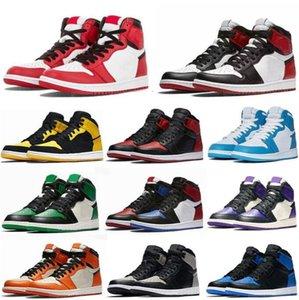 Jumpman 1 أحذية كرة السلة OG High 1S تشغيل UNC Hyper Royal Homage To Home University Blue Men Sport Designer أحذية رياضية
