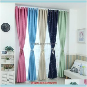 Window Treatments Textiles Home & Gardenmodern Stars Blackout Curtains Kids Bedroom Curtain For Living Room Elegent Bule Drapes Cortinas Par