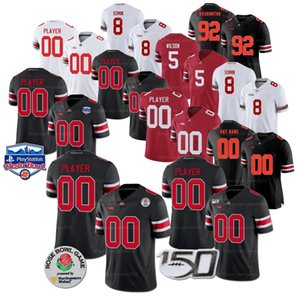 Custom Ohio State Justin Fields Football Jersey Elliott JK Dobbins Chase Young Stroud Fleming Sawyer Ewers George Williams Bosa 150TH Patch Stitched White Red Black
