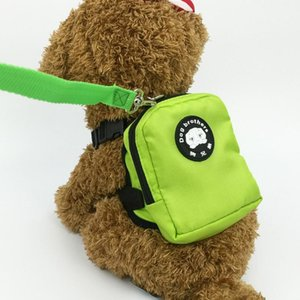 Nylon Multicolor Dog Backpack Convenient Environmentally Pet Cat Puppy Harness Bag With Leash Hiking Camping Outdoor Car Seat Covers