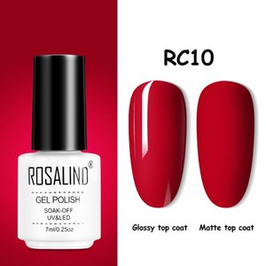 Nail Gel ROSALIND Polish Hybrid Varnishes Soak Off 7ml Lak Semi Permanent Nails Art MaTop Coat All For Manicure Gels
