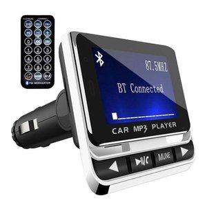Fm12B Bluetooth Car Mp3 Player with Display Remote Wireless FM Transmitter LCD SN Car Kit Support TF Card U Disk