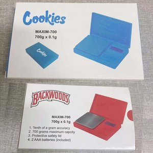 Cookies Backwoods Pocket Digital Scale E Cigarettes 700g 0.1g Packaging Red Blue Jewelry Gold Accurate Tobacco Stash Weight Vapes Measurement Dry Herb Device Scales