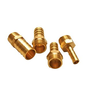 Fans & Coolings G1 4 PC Water Cooling Fittings Nipple Joint Hose Tube Gas Pipe Adapter Copper 6mm 8mm 10mm 12mm 2Pcs lot
