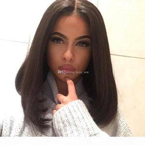 Top Quality 100% Real Human Hair Brazilian Short Bob Silky Straight Silk Top Full Lace human hair Wigs