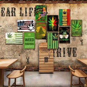 Personalizzato 20 * 30 cm di pittura metallica Plaque Placca segni marijuana decorazione vintage retrò stagno segno per bar