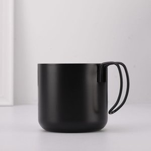 400ml Double Wall Insulation Coffee Mug Stainless Steel Outdoor Travel Beer Cup With Handle Black White Drinkware Tea Mugs