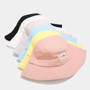 Cubo de verano sombreros mujeres moda sombrero sombrero sombrero sonrisa bordado colorido panama gorra para niñas ancho ala