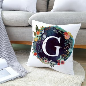 Fuwatacchi A-Z Letter Cushion Cover Customized Soft Throw Pillow Cover Decorative Sofa Pillow Case Pillowcase 922 R2