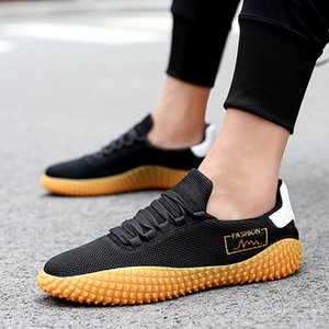 Mens Sports Shoes Casual Spring and Summer New Korean Style Fashionable Versatile Breathable Thin Lightweight Sneakers Mesh Canvas