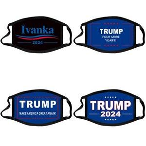 Trump 2024 Face Mask Presidential Election MAGA Cotton Masks Joe Biden Washable Breathable Black Color Letters Print Adult Facemask 756 T2