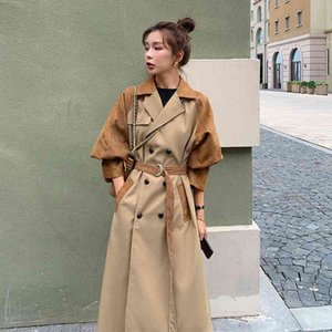 Windbreaker Women's Mid-length 2020 New Autumn and Winter Clothing British Style Coat Casual All-match