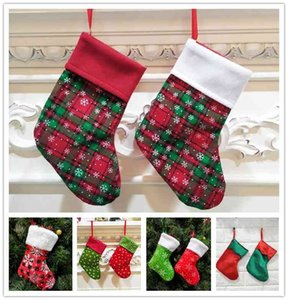 For Kids Gift Candy Bag Socks Christmas Tree Ornament Stocking Xmas Party Wedding Home Decoration 0YIJ