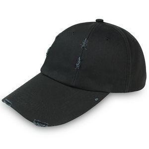 Men all cotton black baseball hat women outdoor sports hip hop label leisure washed cat autumn winter