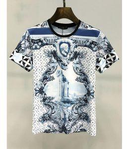 2021 Moda Tendência de verão Designer masculino moda moda masculina casual t-shirt masculina designer de rua impresso roupas padrão t-shirt