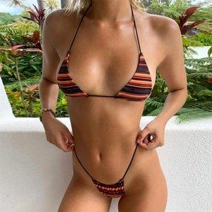 Women's Swimwear Dropshiping Swimsuit Girl Sexy Bikinis Solid Ruffle Push Up Bikini Bra Straps Low Waist Lacing Female 2021