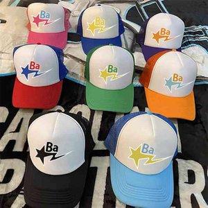 2021Bapesta 야구 트럭 힙합 스케이트 보드 정점 모자 일반 여름 커플 패션 남성과 여성