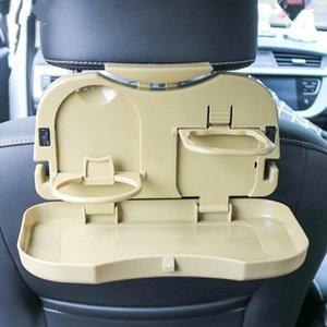 Car Folding Table Auto Drink Food Cup Tray Car Cup Holder Back Seat Table Beverage Holder Stand Desk Car-styling Organiser Box