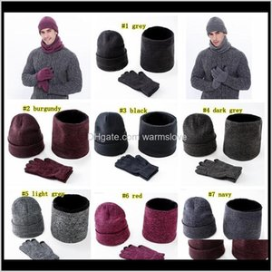 Warm Knitted Hats Scarf Gloves Men Women Touch Screen Glove Scarves Hat Thick Skullies Ljjm23661 Vcxwv Yo0Rg