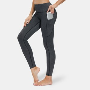 new nylon Yoga Pants women's pocket high waist pants tight breathable sports running breathable fitness pants