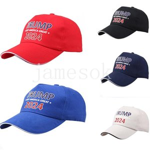 Trump Hat Summer Sun Shading Adjustable Baseball Hats 2024 Presidential Election cap Party caps DB643