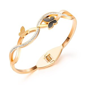 Arrival Simple Hollowed-out Frosted Butterfly Bracelet Stainless Steel Jewelry Woman Gift Wholesale Not Fade Bangle