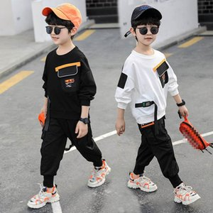 Boys Clothing Sets Boy Suit Kids Outfits Clothes Spring Autumn Cotton Long Sleeve T-shirts Trousers Pants Tracksuit 2Pcs 2-8Y B4797