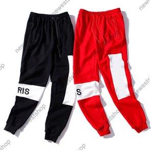 21ss paris Autumn Winter Designer sweatpant men Embroidery Letter print trousers sweatpants comfortable breathable Sticking cloth trouser
