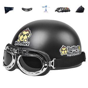 Motorcycle Helmets Helmet Electric Protective Men's Women's Four Seasons Cute Casco Moto Summer Sunscreen AD