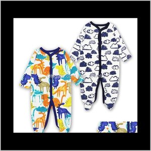 Footies Jumpsuits&Rompers Clothing Baby, Kids & Maternity Drop Delivery 2021 Born Baby Clothes Babies Girl Footed Pajamas Roupa Bebe 2 Pack L