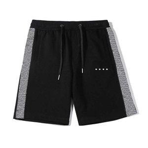 Men's Summer Beach Shorts Hommes Piste de piste Classic Let-lettre Côté imprimé Contraste Contraste Couleur Adolescent Pantalon Court Curstring Ajuster