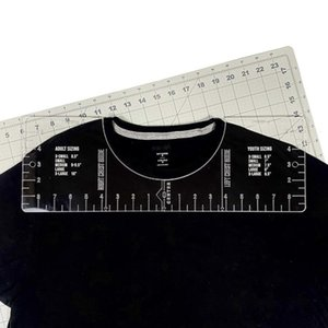 T-Shirt Rulers Guide Shirt Alignment Tool For Applying Vinyl Sublimation Shirts With Size Chart Built-in - HTV Sewing Notions & Tools