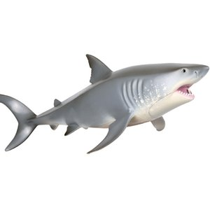New product Marine life-like hollow hard plastic shark Toy Great White Shark presents toy models for boys and girls birthday presents