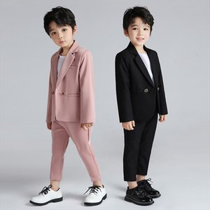 Shiping Boys Suits For Weddings Kids Double Breasted Blazer Pants 2pcs Outfit Enfant Mariage Garcon Children Tuxedo Costume,h114