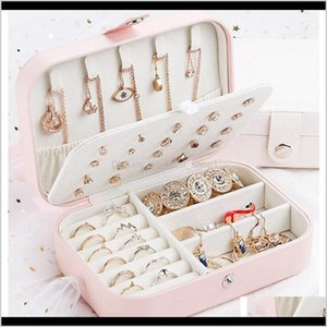 Boxes Bins Woman Imitation Leather Travel Earring Ring Necklaces Storage Cases Gift Makeup Organizer Jewelry Box Ljja3573 Hxzws Fhupo