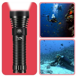Flashlights Torches 20000lm Super Bright Diving IP68 Highest Waterproof Rating Professional Light Powered By 26650 Battery