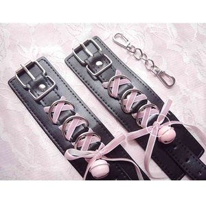 Handcuffs Bdsm Bondage Sex Toys for Couples Exotic Accessories PU BDSM Sex Bondage Set Sexy Handcuffs Sex Products Handmade Y201118