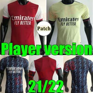 Hombres 21 22 Player Versión FC Soccer Jersey Odegaard Saka Nicolas Tierney Henry Willian Arsena Maitland-Niles 2021 2022 Camisetas de fútbol