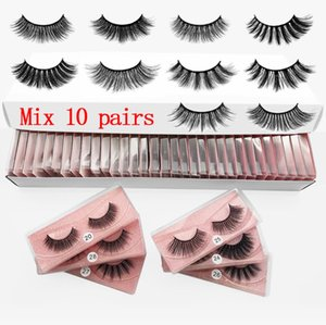 3D Mink Eyelashes 10 Styles Natural Thick Fake Makeup False Eye Lashes Extension Make-Up Tool In Bulk