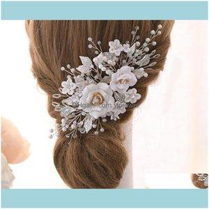 Jewelry Jewelryluxury Wedding Flower Floral Comb Leaf Headpiece Crystal Rhinestone Crown Tiara Bridal Headdress Hair Ornament Headwear Prom