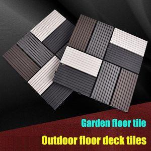 Eco-friendly Outdoor Flooring Patio And Deck Pavers 30x30cm Interlocking Wood Plastic Composite Floors Balcony Tiles Weather Carpets