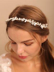 Headpieces Trendy Flower Hair Jewelry For Bride Headwear Beads Handmade Women Headbands Girls Vine Wedding Accessories Decoration