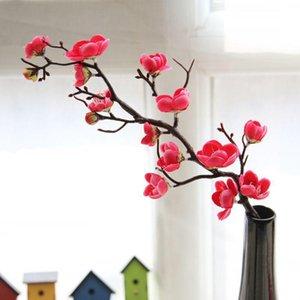 Silk Plum Cherry Blossoms Artificial Flowers Flores Sakura Tree Branches Home Table Living Room Decor DIY Wedding Decoration Decorative & Wr