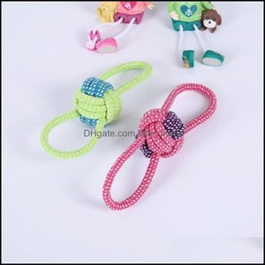 Dog Supplies Home & Gardendog Apparel 1Pc Pet Toy Cotton Rope Woven Knot Small Two-Color Double Ear Ball Drop Delivery 2021 W9S7L