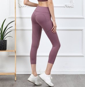Mujeres Fitness Running Capris Sheer Yoga Pantalones Mujeres Joggers Sexy Yoga Pantalones Pantalón de Yoga Pantalones para mujer